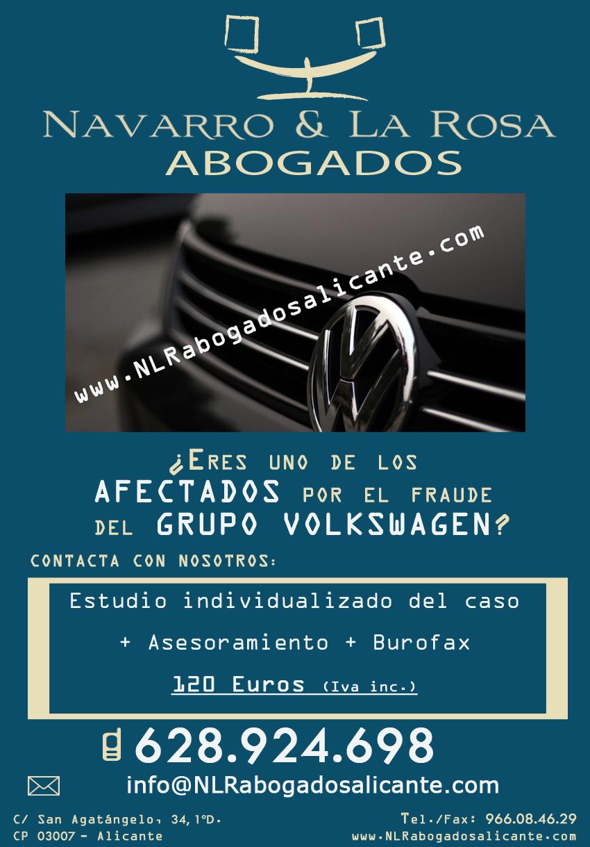 Afectados Fraude Volkswagen - Navarro & La Rosa Abogados Alicante